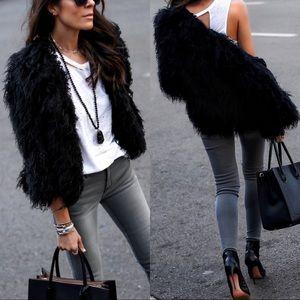 • Boutique Shaggy Faux Fur Coat
